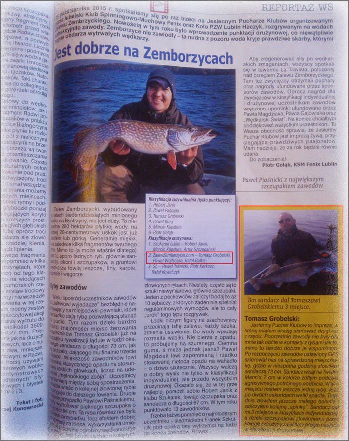 Wędkarski Świat o ZalewZemborzycki.com